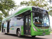 比亚迪纯电动大巴于巴西首都巴西利亚正式运营