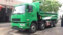 国五+DPF配置华菱专为深圳研发的重型自卸车驾到