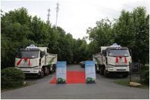 解放J6P8×4渣土自卸南京区域产品品鉴会举行