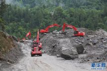 川藏公路西藏波密段断通路段恢复通车