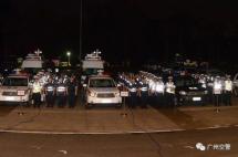 广州出动240名警力查扣套牌泥头车112辆