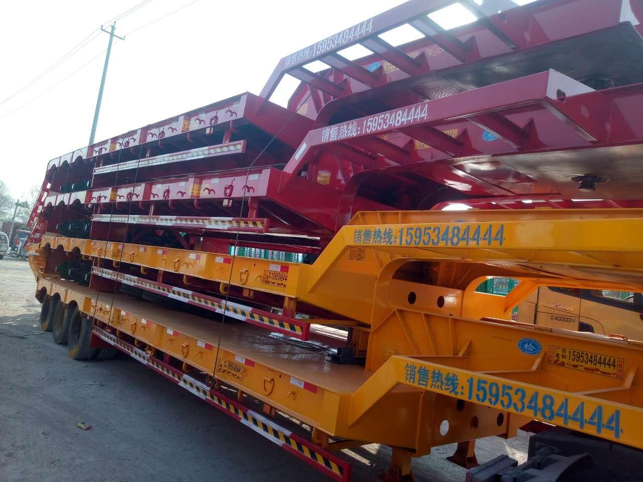 专业订做钩机板 挖掘机运输车 框架特种车 框架四桥 五桥 多线车等...厂家直销陆海挂车