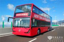 银隆新能源双层巴士作为央视直播车见证珠港澳大桥开通!