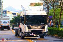 亚洲首台L系低入口卡车压轴斯堪尼亚新时代货车系列车辆展示日香港举行