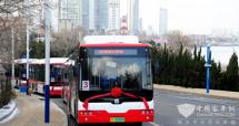 山东烟台:20台无障碍纯电动空调公交车现身