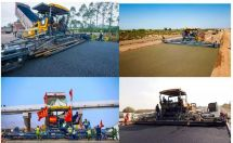 新年首秀|3台RP1655摊铺机组团助力周南高速