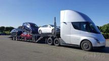 特斯拉用尚未量产的电动卡车配送电动车