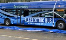 波特兰电动公交车换装风能驱动开创美国运输界先河