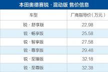 广汽本田奥德赛锐·混动广州区域上市售22.98万元起