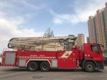 大国重器丨甘肃首台38米多功能举高喷射消防车完美交付