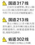 交警提示:阿坝禁止30吨以上或4轴及以上大货车通行