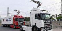 德国首次开通可供电动卡车行驶,有架空输电线高速公路车道