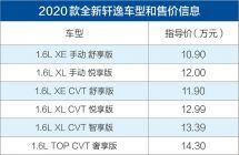"""""""小天籁""""正式上市东风日产新一代轩逸10.9万元起售"""