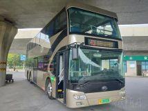 全景天窗!郑州公交43路双层纯电动公交车投入运营