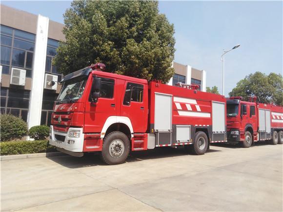 重汽豪沃水罐消防车_重汽豪沃8吨水罐消防车价格