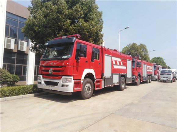 重汽豪沃8吨水罐消防车厂家报价