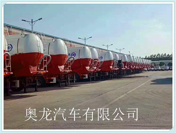 6桥49吨标载超轻33方半挂水泥罐车,自重轻,下灰快,价格优惠