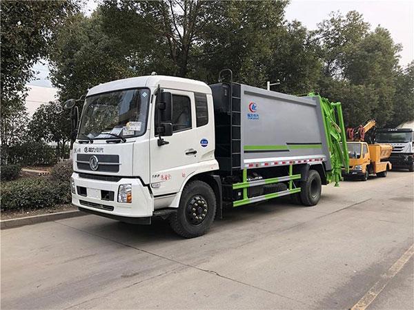 国六东风天锦12方压缩式垃圾车多少钱_厂家_价格