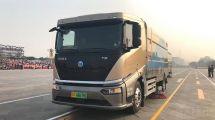 比亞迪T8純電動洗掃車服務新中國70華誕盛典