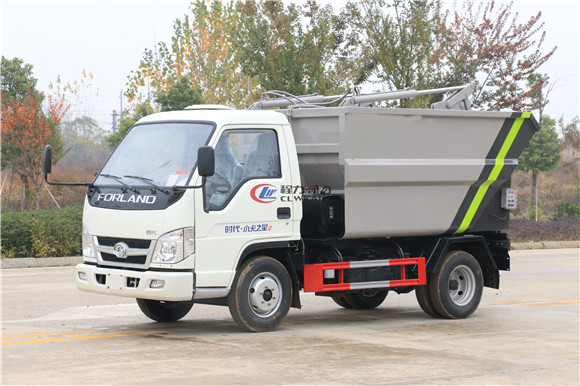长安后装垃圾清运车—国六挂桶垃圾车价格—3方垃圾清运车厂家