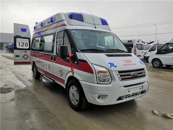 国六福特救护车价格_V348新全顺救护车厂家