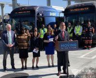 美國最大純電動巴士訂單揭曉134臺比亞迪純電動巴士交付洛杉磯