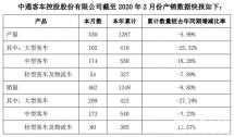 中通客車前兩月銷售1348輛這一車型同比上漲13.5%