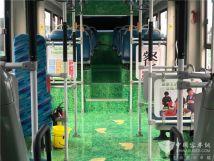 """郑州首辆""""绿色环保""""主题公交上线"""