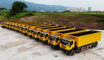 上汽红岩30辆自卸车再赴刚果(金)批量投入非洲矿石运输