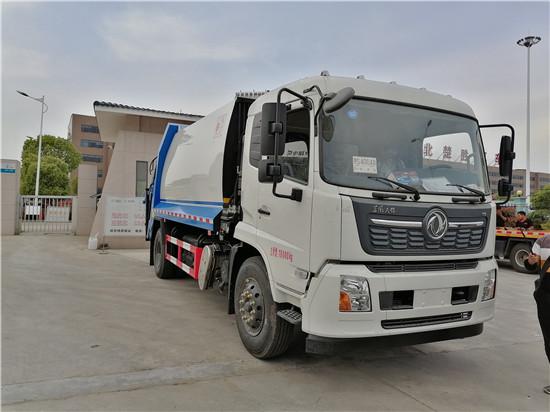 国6东风压缩式垃圾车厂家_14方天锦垃圾车多少钱