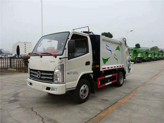凯马3吨压缩式垃圾车 蓝牌小型垃圾车最好的选择