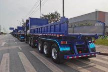 重庆凯瑞特种车顺利完成150台栏板式半挂自卸车交付
