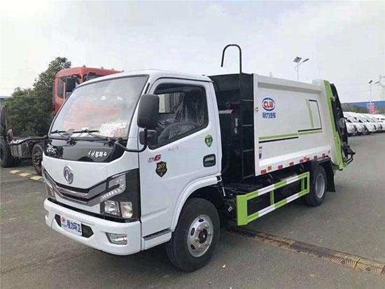 国六东风小多利卡D6压缩式垃圾车价格_厂家