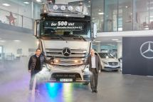 奔馳大件牽引車里程碑!第500輛ActrosSLT重拖交付德國TSB運輸公司