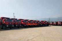 重庆凯瑞科信云南分公司出口缅甸22台自卸车