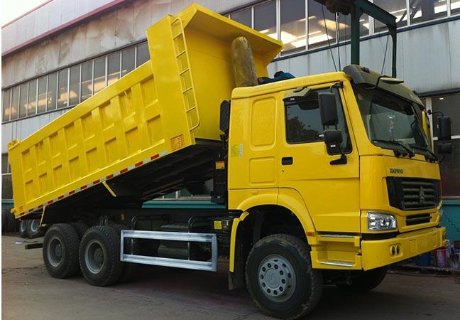 2021年中国重汽自卸车出口