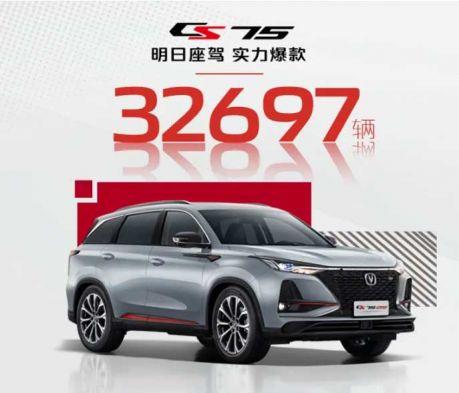 新王誕生!長安汽車CS75成為2021年2月份中國SUV銷量冠軍