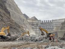 柳工挖掘機參與在建世界最大水電工程白鶴灘水電站