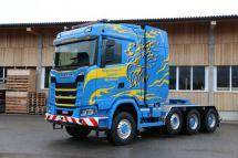 165噸連接總重斯堪尼亞為瑞士客戶定制的首輛S650XT8x6大件牽引車交付