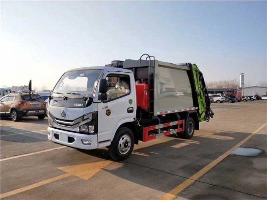 國六東風小多利卡5方壓縮式垃圾車廠家配置說明