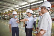 广西市政府、市发改委、五象新区管委会领导赴广西申龙考察调研