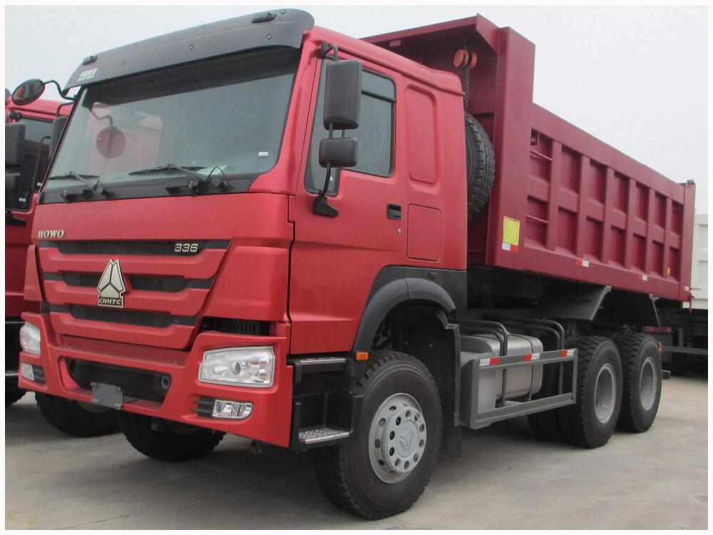 中國重汽371馬力豪沃國二自卸車出口