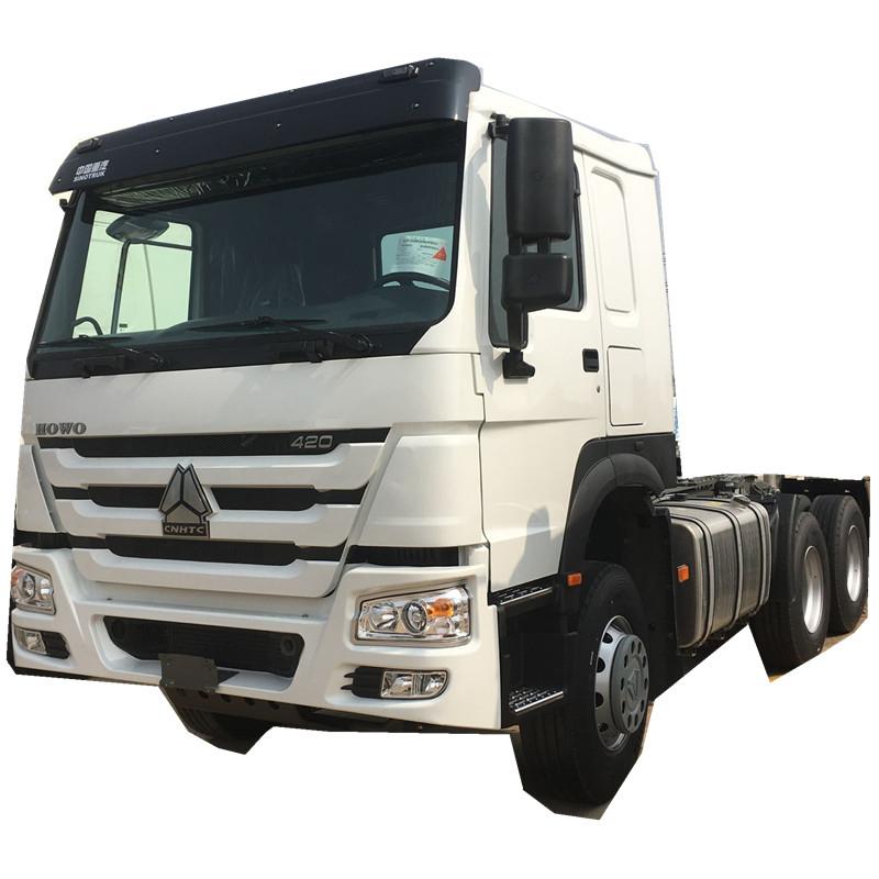 中國重汽牽引車出口371馬力歐二排放國外