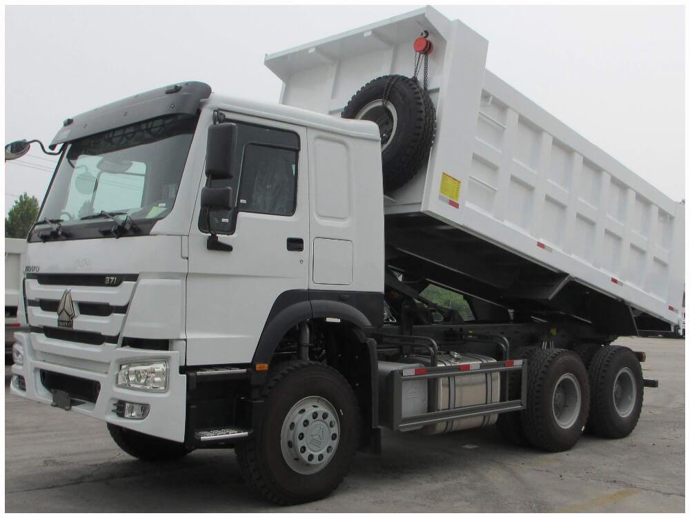 中国重汽自卸车6x4371马力国2出口