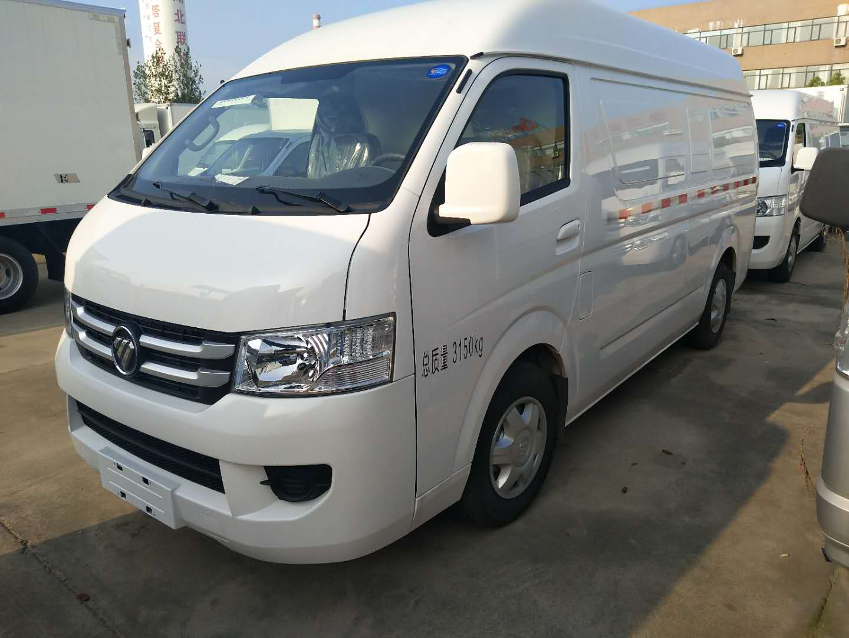 福田风景G7汽油单排双排座冷藏车7方厢体面包冷藏车