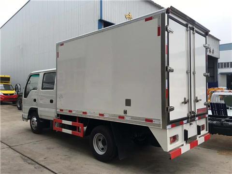 五十铃100P双排冷藏车蓝牌3米2厢体冷藏保温车