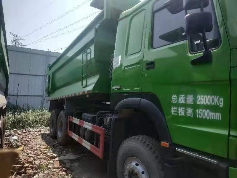 库存国五排放豪沃380马力5.6米自卸车