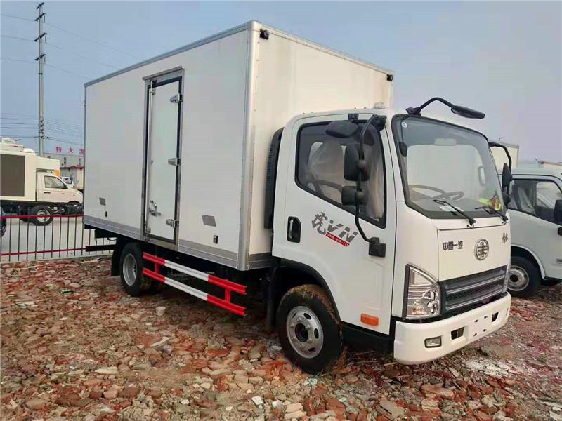 解放虎v单排冷藏车4.2米蓝牌不超重带备电