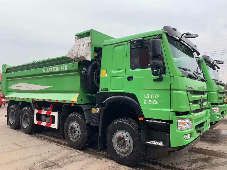 HOWO 7 自卸车 5.8米渣土车 柠檬绿