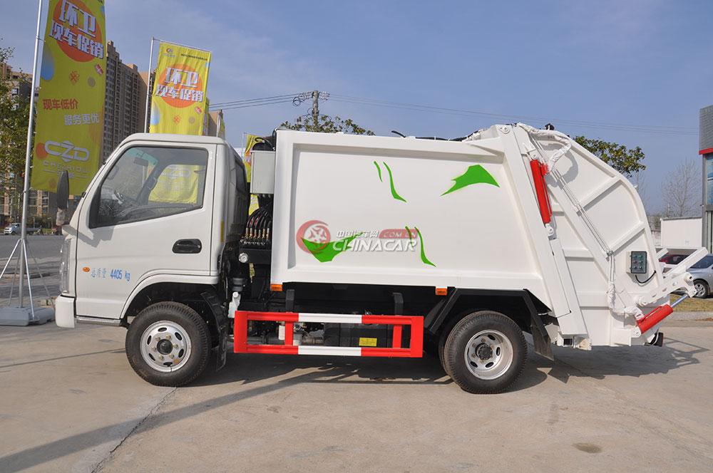 凯马福运来压缩式垃圾车外观图片-右侧